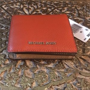 Orange Michael Kors Wallet - New with tag